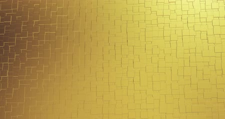 цифровой сформированный образ : Abstract geometric golden backgroundfoil tiles texture seamless loop background 3D rendering