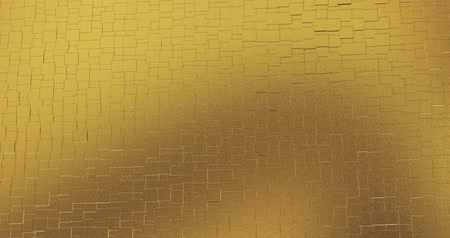 dijital oluşturulan görüntü : Abstract geometric golden backgroundfoil tiles texture seamless loop background 3D rendering