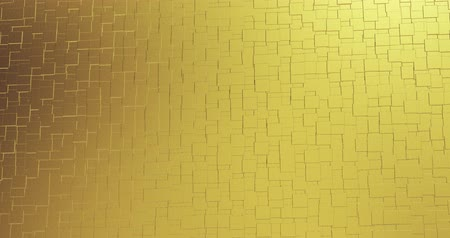 materials : Abstract geometric golden backgroundfoil tiles texture seamless loop background 3D rendering