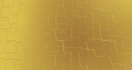 antique grunge : Abstract geometric golden backgroundfoil tiles texture seamless loop background 3D rendering
