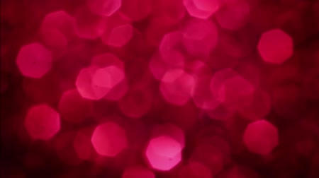 wedding and gold : Red Merry Christmas magical bokeh lights background. Glamour happy valentines day walpaper. Stock Footage