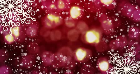 zaproszenie ślubne : Christmas seamless loopable background , snowflakes. Top view with copy space.