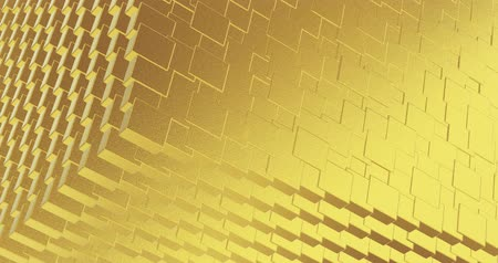 refraksiyon : Abstract geometric golden backgroundfoil tiles texture seamless loop background 3D rendering