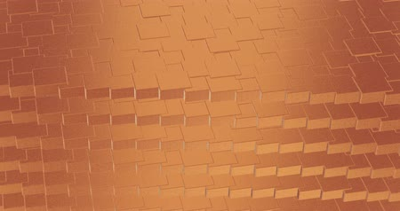 florete : Abstract geometric rose golden backgroundfoil tiles texture seamless loop background 3D rendering