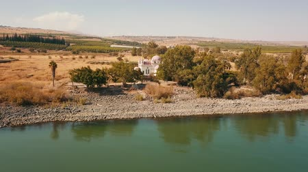 palestina : Orthodox Church of the 12 apostles. Sea of Galilee. Capernaum. Aerial view