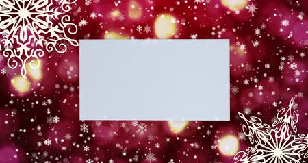 apparecchiare : Christmas seamless loopable background with, snowflakes. Top view with letter and copy space.
