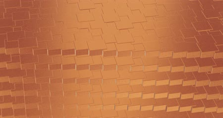 refraksiyon : Abstract geometric rose golden backgroundfoil tiles texture seamless loop background 3D rendering