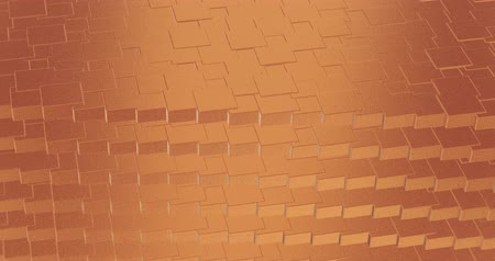 lom světla : Abstract geometric rose golden backgroundfoil tiles texture seamless loop background 3D rendering