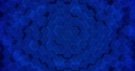 geométrico : Abstract geometric blue hexagone background. 4k seamless loop. 3d render. Stock Footage