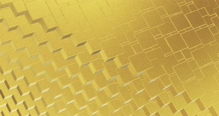 alaşım : Abstract geometric golden backgroundfoil tiles texture seamless loop background 3D rendering
