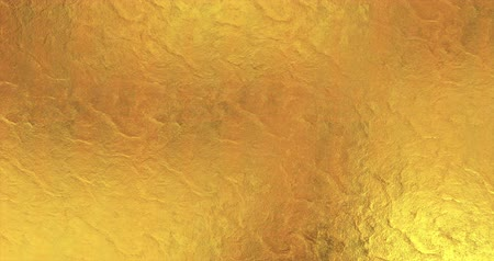 metal plate : Golden foil background. Gold texture 3D rendering loop 4k