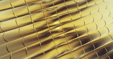 refraksiyon : gold foil tiles texture background 3D rendering
