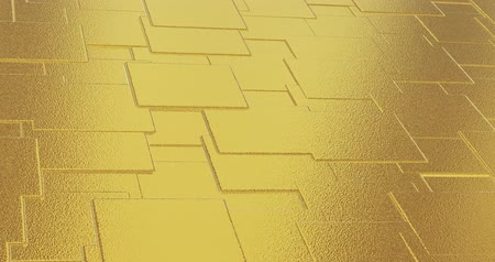 lom světla : Abstract geometric golden backgroundfoil tiles texture seamless loop background 3D rendering