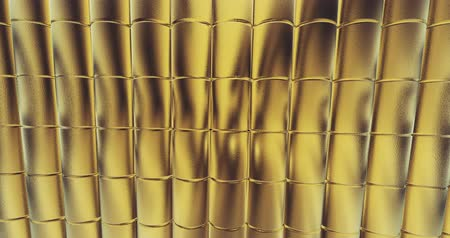 crumpled : gold foil tiles texture background 3D rendering