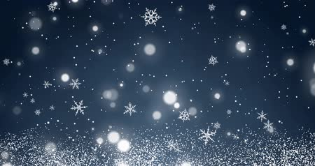 jiskry : White confetti, snowflakes and bokeh lights on the blue Christmas background.