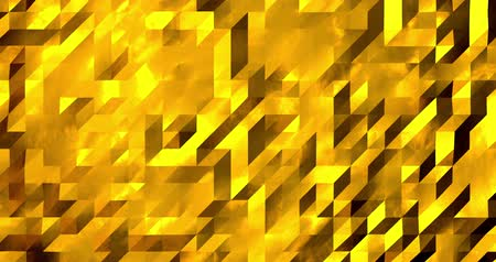 wizualizacja : Abstract golden 3D geometric pattern. Mosaic metall background. New year texture. 3D animation loop 4k