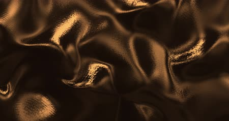 sedoso : Gold sparkly silk background. Glamour satin texture 3D rendering loop 4k. Vídeos