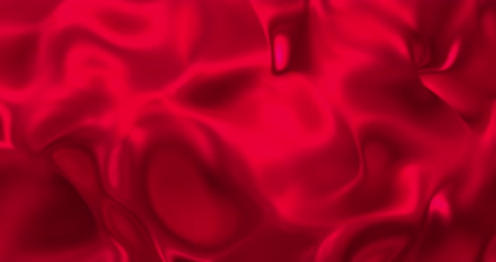 draperie : Red metallic wave liquid background. Glamour satin lava texture 3D rendering loop 4k.