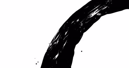 olejnatý : Abstract black flow . Oil Fluid texture. Digital 3D animation loop 4K.