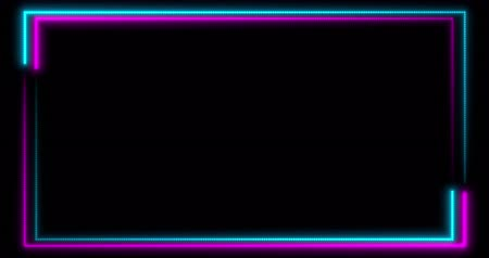 podyum : Neon background with LED frame screens. Fluorescent abstract blue, purple color. looped animation 4k. Stok Video