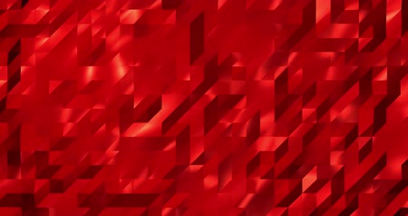 wizualizacja : Abstract red 3D geometric pattern. Mosaic metall background for business presentation.