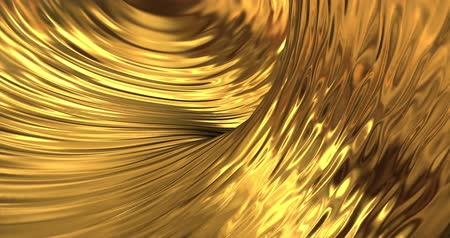 szövetek : Gold liquid metallic background. Glamour satin texture 3D rendering loop 4k.