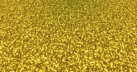 endless gold : Golden glitter dust background for festival, party, event. Gold glamur texture Loop 4k animation. Stock Footage