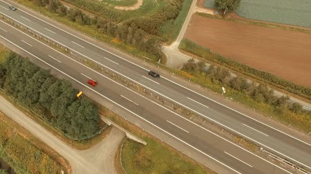 auto estrada : Multicopter in aerial photography: landscapes of the highway