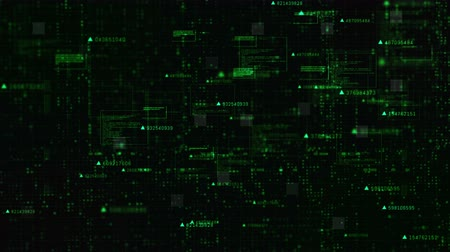 Hi-Tech Digital matrix particles and grid motion abstract background