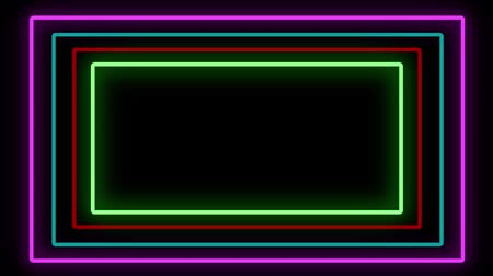 obdélníkový : Popular Abstract Seamless Background Blue Purple Spectrum Looped Animation Fluorescent Ultraviolet Light HD Glowing Neon Line.