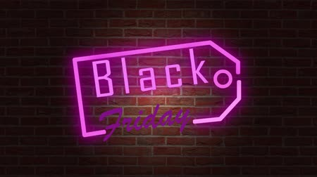 flash sale : Black Friday Sale Neon Sign Banner Background For Promo Video. Concept of Sale and Clearance