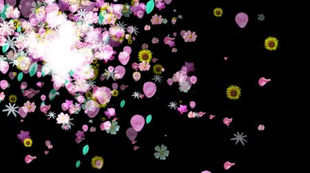 ブーム : Colorful Big Flowers Background in HD
