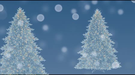 к северу : Christmas tree with blue sky, moving, and screening effect
