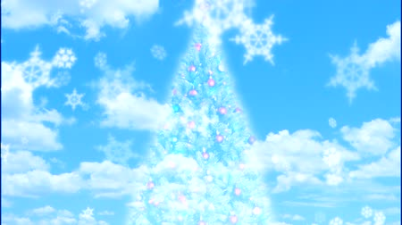 质地 : Screening Christmas Tree with snow effect 影像素材