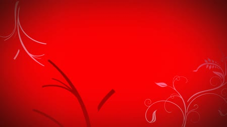 anima : Animated grow flower red background