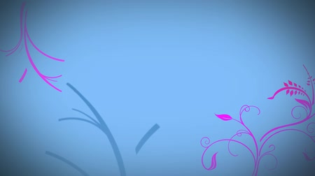 anima : Animated grow flower blue background