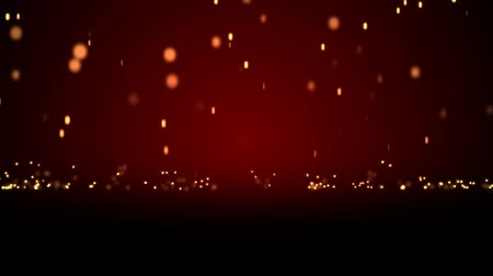 red symbol : Raining particle effect with gradation red background Stock Footage