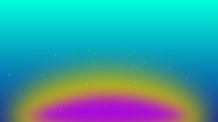 snows : flying particles in the space with rainbow color background