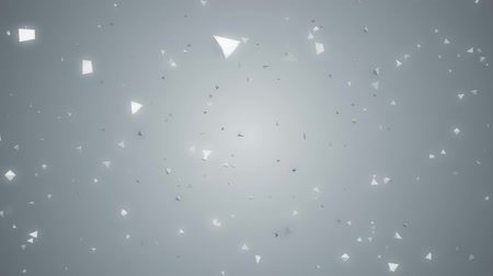 video effects : flying particles with colorfull background