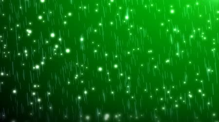 újító : rain particles with green background Stock mozgókép