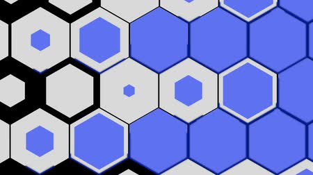 ennek : This moving hexagon is used for slide shows from slide one to the next slide. Stock mozgókép
