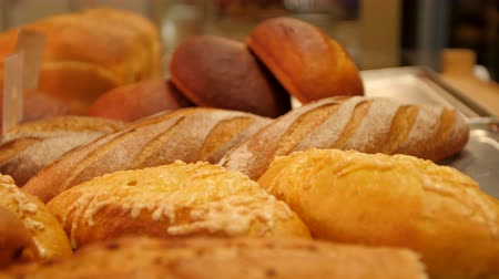 ciabata bread : Breads and baked goods. Stock Footage