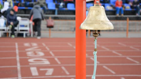 dizilirler : Athletics bell final round. Competitions athletes at the stadium