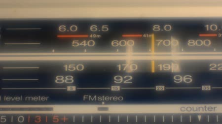 novela : Radio dial, searching for stations. blur effect