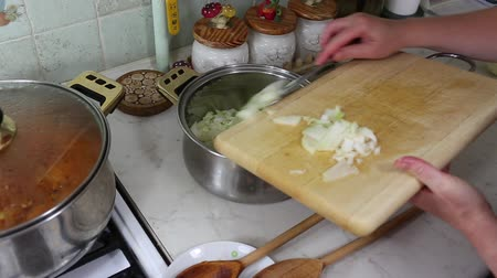 repast : Preparation of lasagne, Italian cuisine in Polish conditions.