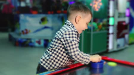 ура : Playing boy. Air hockey