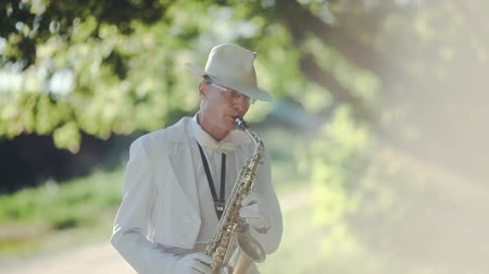 saxofonist : Saxofonist in de natuur. Video Series.