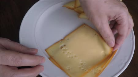 молочный : Thin slices of fresh cheese