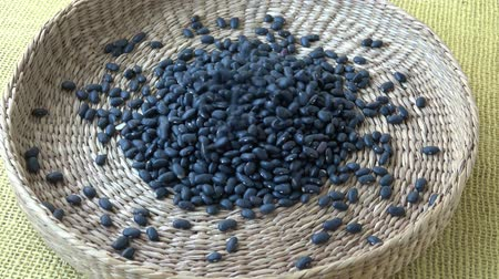 腎臓 : Black beans in basket (frijoles negros)  t 動画素材