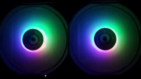 RGB circles glow in different colors